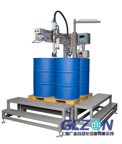 200L四桶液体灌装机_全自动200L定量灌装机